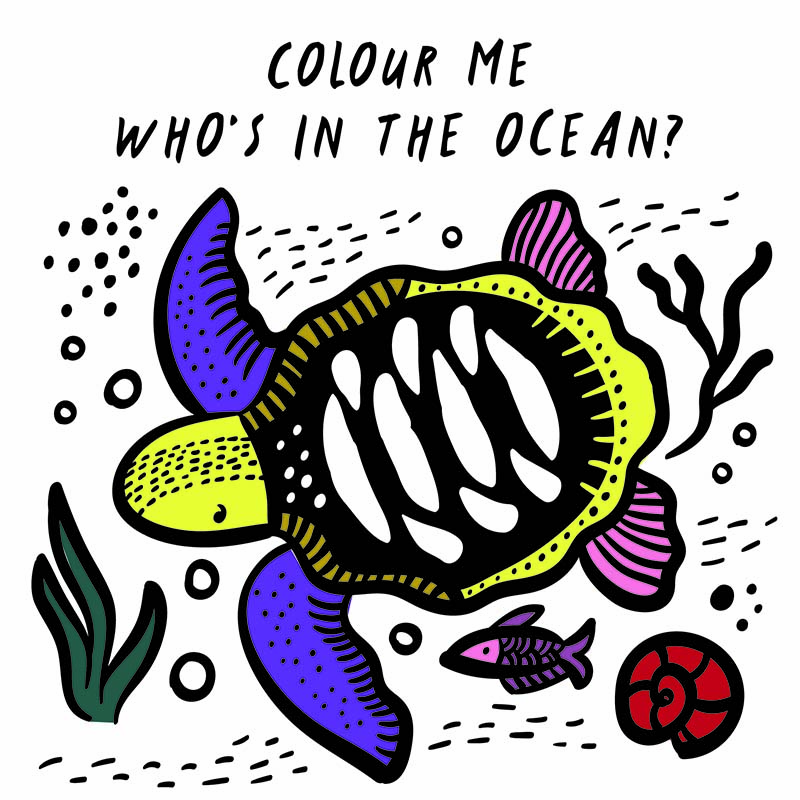 Colour Me: Who's in the Ocean? - Jacket