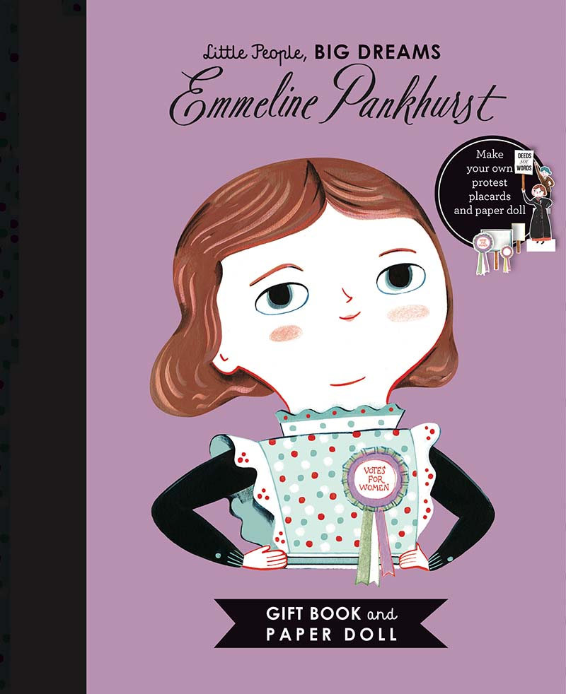 Little People, BIG DREAMS: Emmeline Pankhurst Book and Paper Doll Gift Edition Set - Jacket