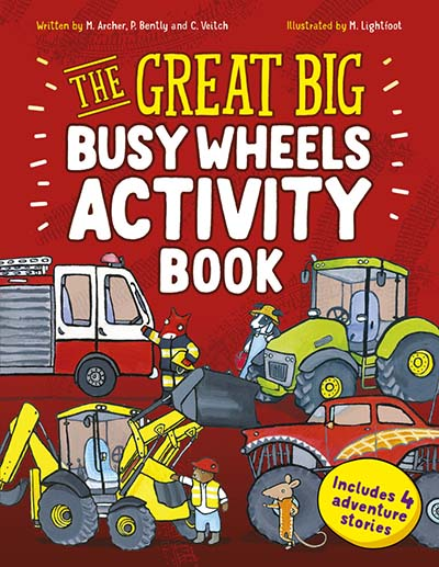 The Great Big Busy Wheels Activity Book - Jacket