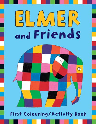 Elmer and Friends First Colouring Activity Book - Jacket