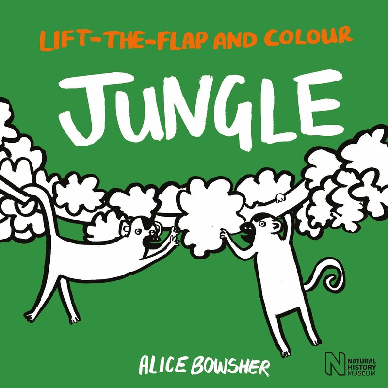 Lift-the-flap and Colour Jungle - Jacket