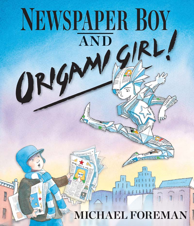 Newspaper Boy and Origami Girl - Jacket