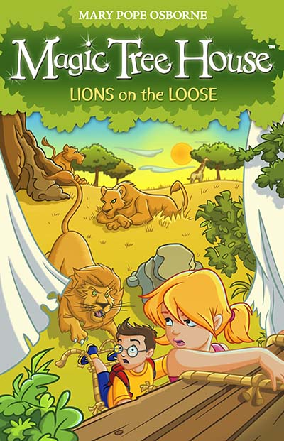 Magic Tree House 11: Lions on the Loose - Jacket