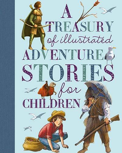 A Treasury of Illustrated Adventure Stories - Jacket